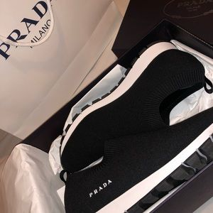 Prada knit sneakers